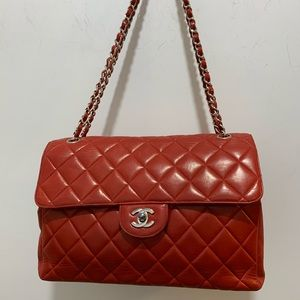Chanel Extremely Rare two sided Flap jumbo bag